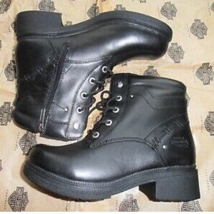 Harley Davidson Elowen Black Leather Boots